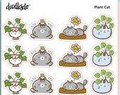Myong the Plant Cat - plant care functional and decorative planner sticker