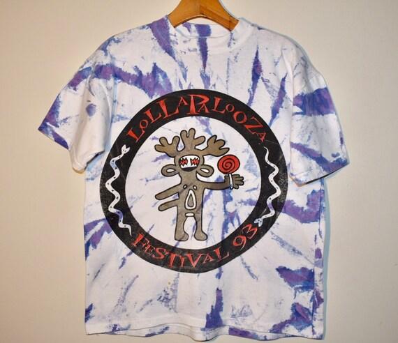 1993 Lollapalooza Festival T-shirt - Rare Tie-Dye