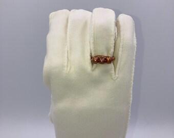 Copper & Pearl Rings