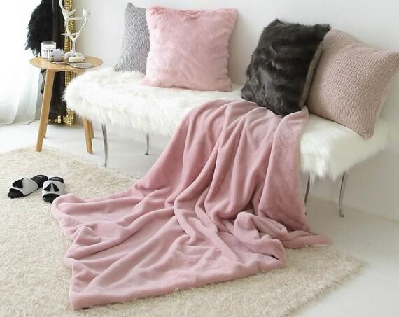 Pink Faux Fur Blanket Ultra Plush Throw Blanket