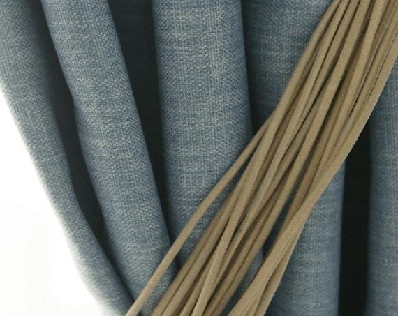 Melange Blue Soft Touched Blackout Curtain Drapery Panel