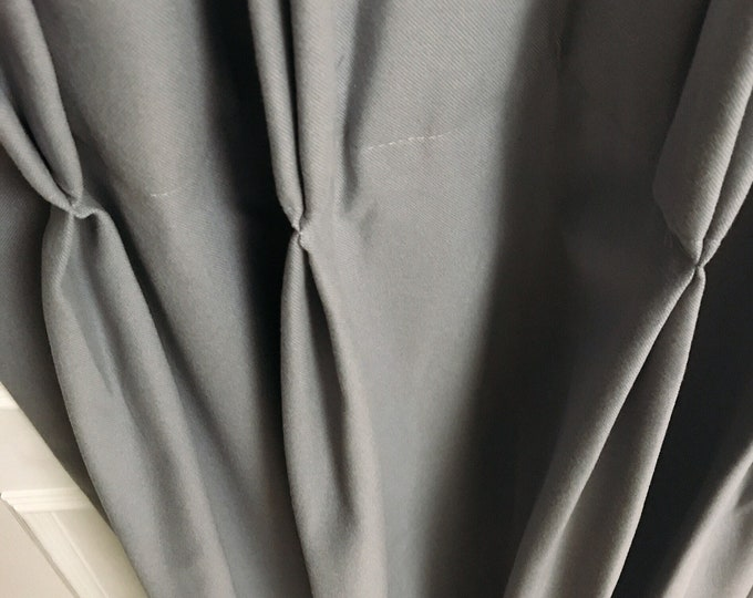 Grey Double Pinch Pleat Curtain
