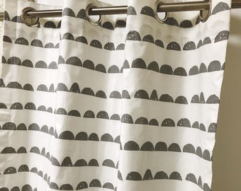 Sample Sale] Cloud Patterned Ivory Curtains Cotton Curtains Lined Curtains 1Pair