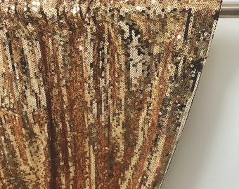 Sample Sale] Gold Sequins Drops Embellished Metallic Drapery Lined Curtain 1panel of 95cm W X 285cm L