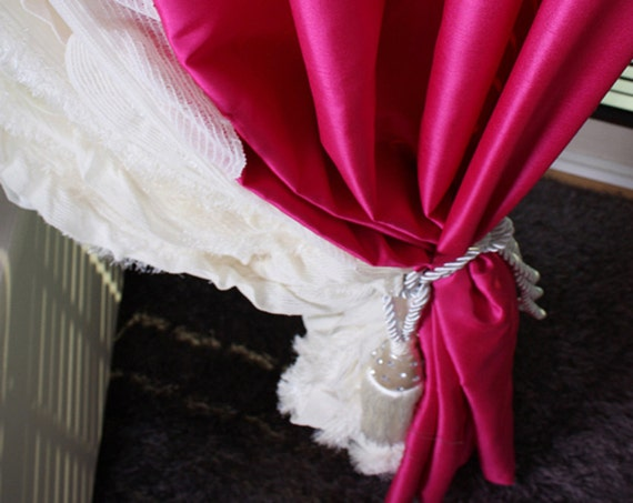 Image result for HOT PINK TAFFETA CURTAINS