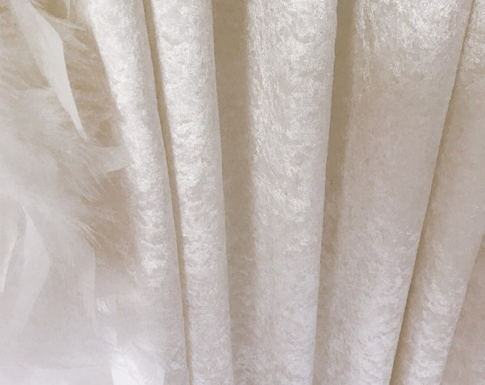 """Glam White Velvet Curtain Panel. Curtain Drapes. Various Colours. 64"""" 84"""" 90"""" 96"""" Long by 53"""" Wide. Curtains with Ties. Window Treatments"""