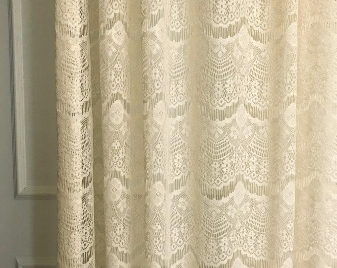 Milk Tea Ivory Lace Sheer Curtain