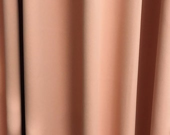 Peach Pink Solid Blackout Curtain Nursery Curtain