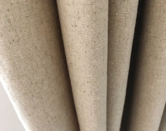 """Natural Beige Washed Linen Curtain Panel. Various colours. 64"""" 84"""" 90"""" 96"""" Long by 47"""" Wide. Window treatments"""