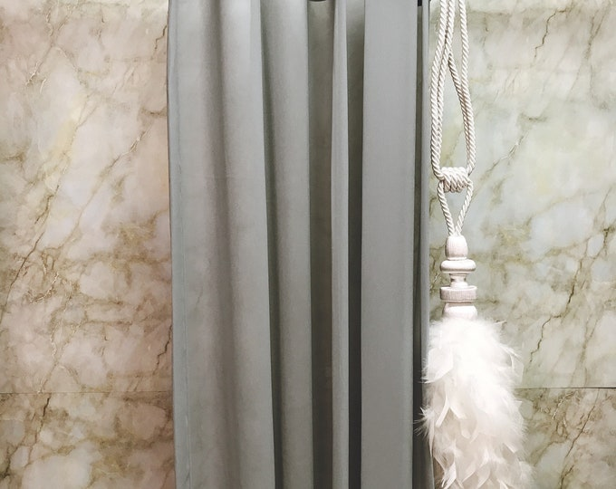 Pale Grey Sheer Curtain