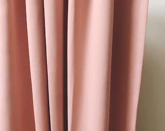 Pink Curtain Drapery Panel
