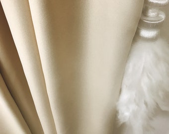"""Gold Glitter Cream Beige Curtain Panel. Bedroom Curtains. 84"""" 90"""" 96"""" Long by 51"""" Wide. Curtains with Ties. Window Treatments"""