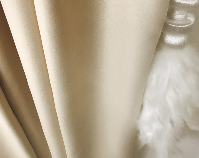 "Gold Glitter Cream Beige Curtain Panel. Bedroom Curtains. 84"" 90"" 96"" Long by 51"" Wide. Curtains with Ties. Window Treatments"