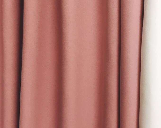 "Pink Curtain Drapes. Plain curtain. Various colours. 64"" 84"" 90"" 96"" Long by 55"" Wide. Curtains with ties. Window treatments"
