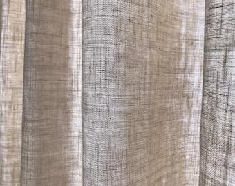 Natural Cream Beige Bio Washed Linen Curtain