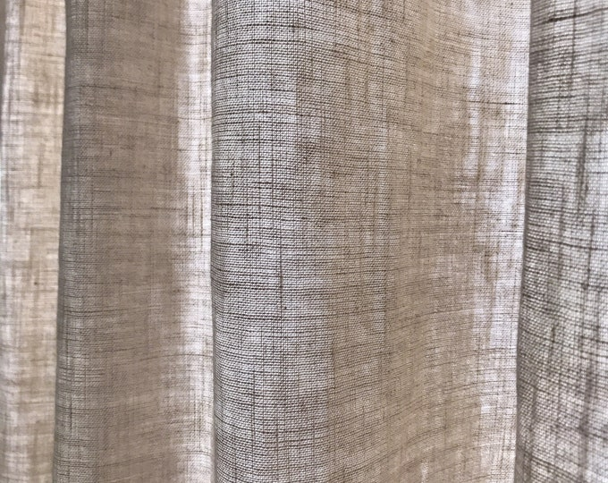 Natural Cream Beige Bio Washed Linen Curtain