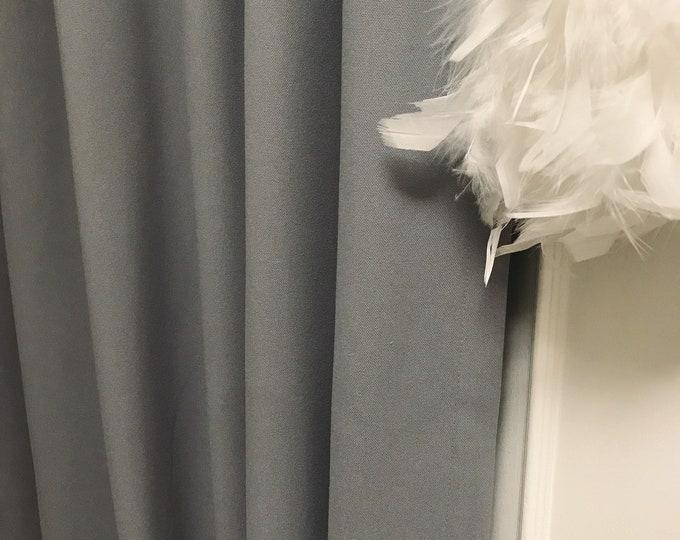 Sample Sale] 1 Pair of Grey curtain Drapery Panel