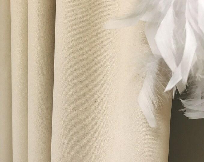 Gold Glitter Cream Beige Blackout Curtain