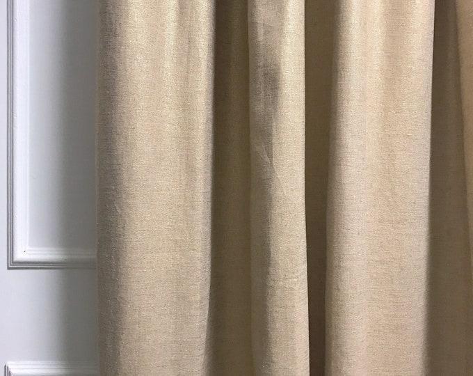 Gold Metallic Bio Washed Linen Curtain