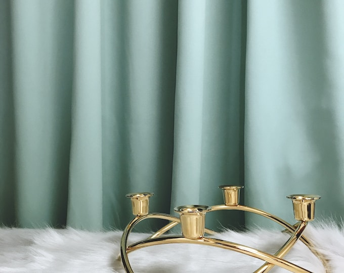 "MInt Blackout Curtain. Nursery Curtain Panel. Various colours. 64"" 84"" 90"" 96"" Long by 53"" Wide. Curtains with ties. Window treatments"