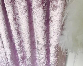 Glam Violet Subtle Gloss Velvet Curtain Drapery Panel