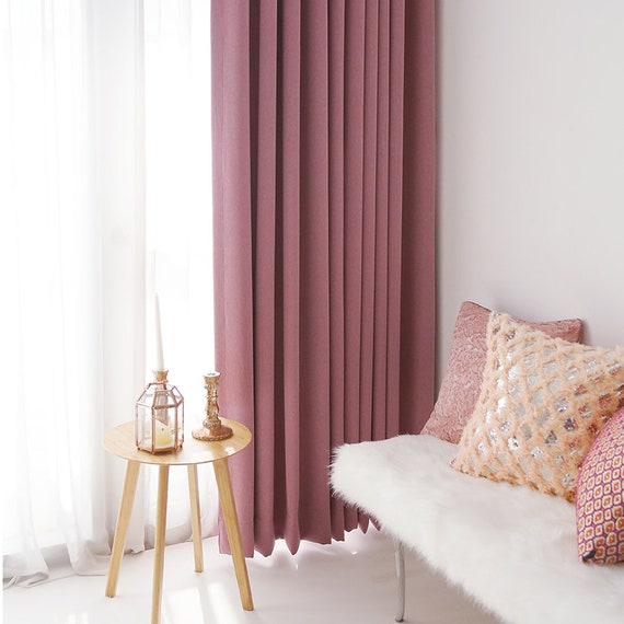 Pink Soft Touched Blackout Curtain Drapery Panel