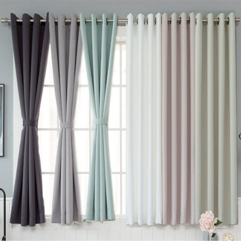Light Mint Blackout Curtains Grommet 1Pair 67L Pair