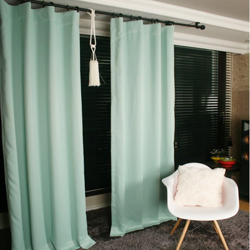 Mint Green Blackout Curtain Drapery Panel