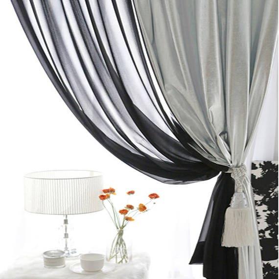 Silber schimmernden vorhang dekorative gardinen panel etsy - Dekorative gardinen ...