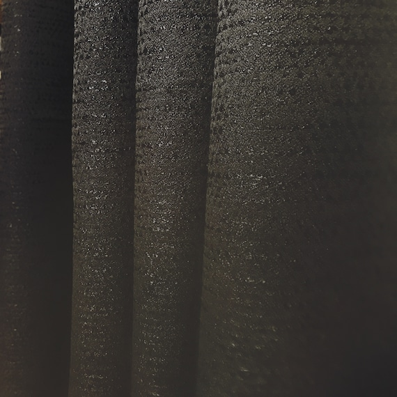 Shiny Charcoal Tweed Blackout Curtain