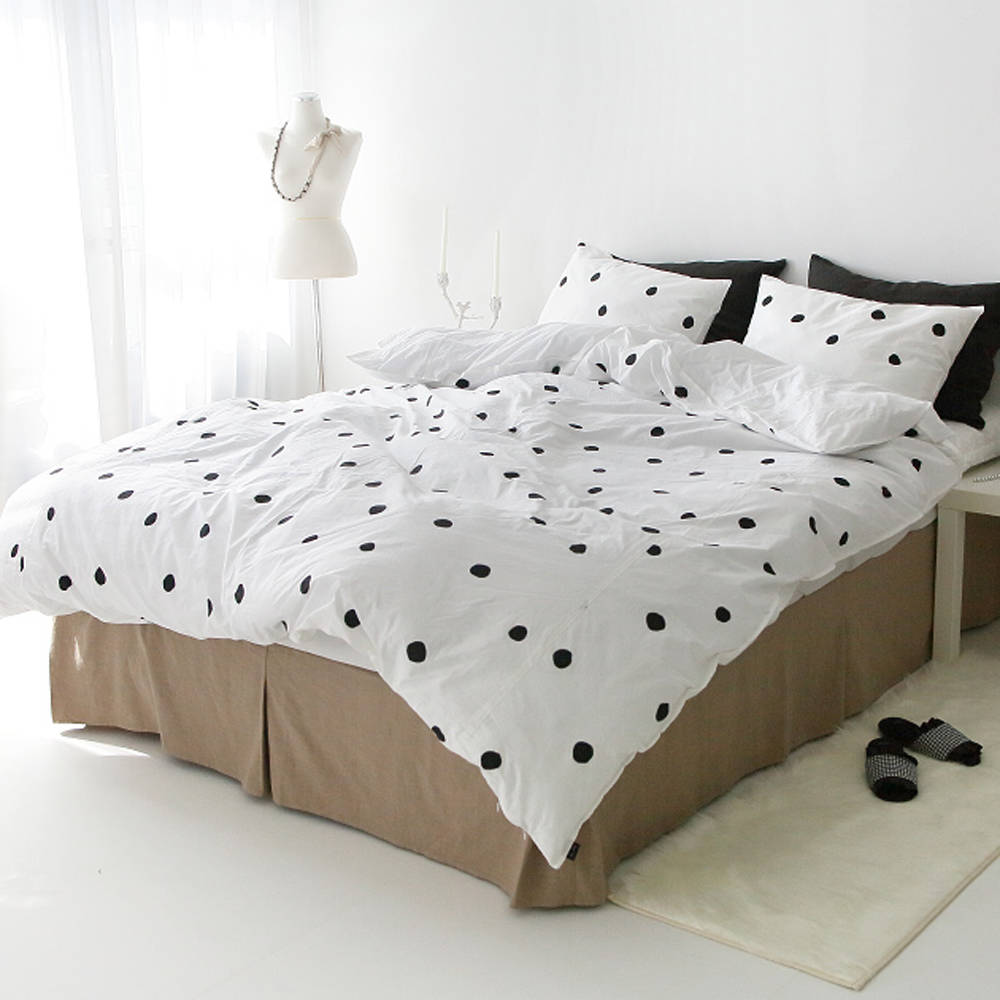 teen duvet cover. Lovely Dots White Duvet Cover Soft Cotton Bedding Queen / King Cal.King Twin Full Adult Kid Teen
