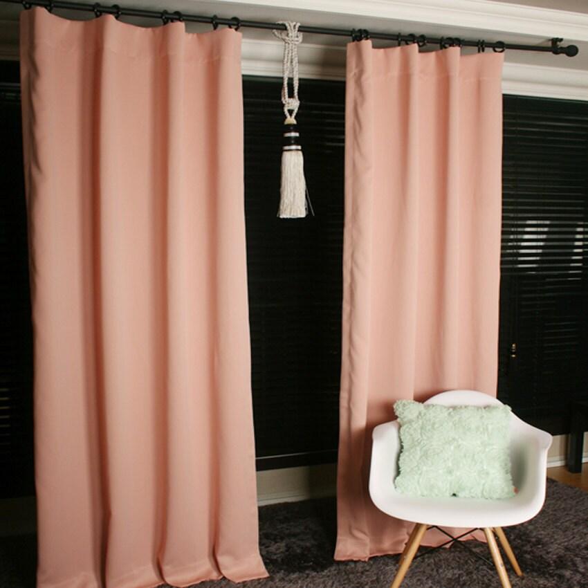Pale Peach Blackout Curtain Drapery Panel