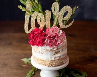 Love Cake Topper, Bridal Shower Decorations, Baby Shower, Brunch Decor, Gender Reveal Party, Wedding, Same Sex, Anniversary, Engagement