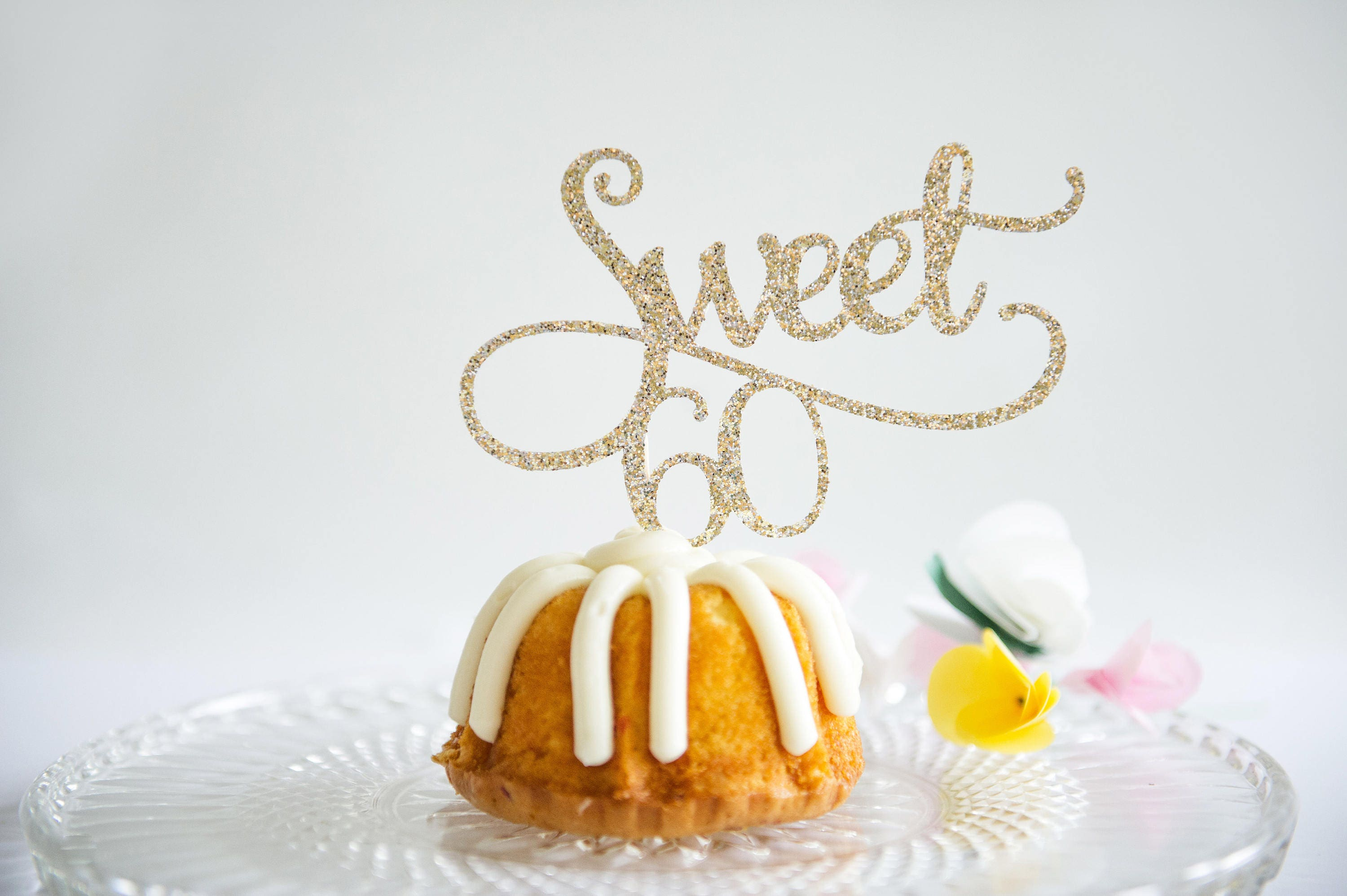 Sweet 60 Happy Birthday Cake Topper Sixty Years Party
