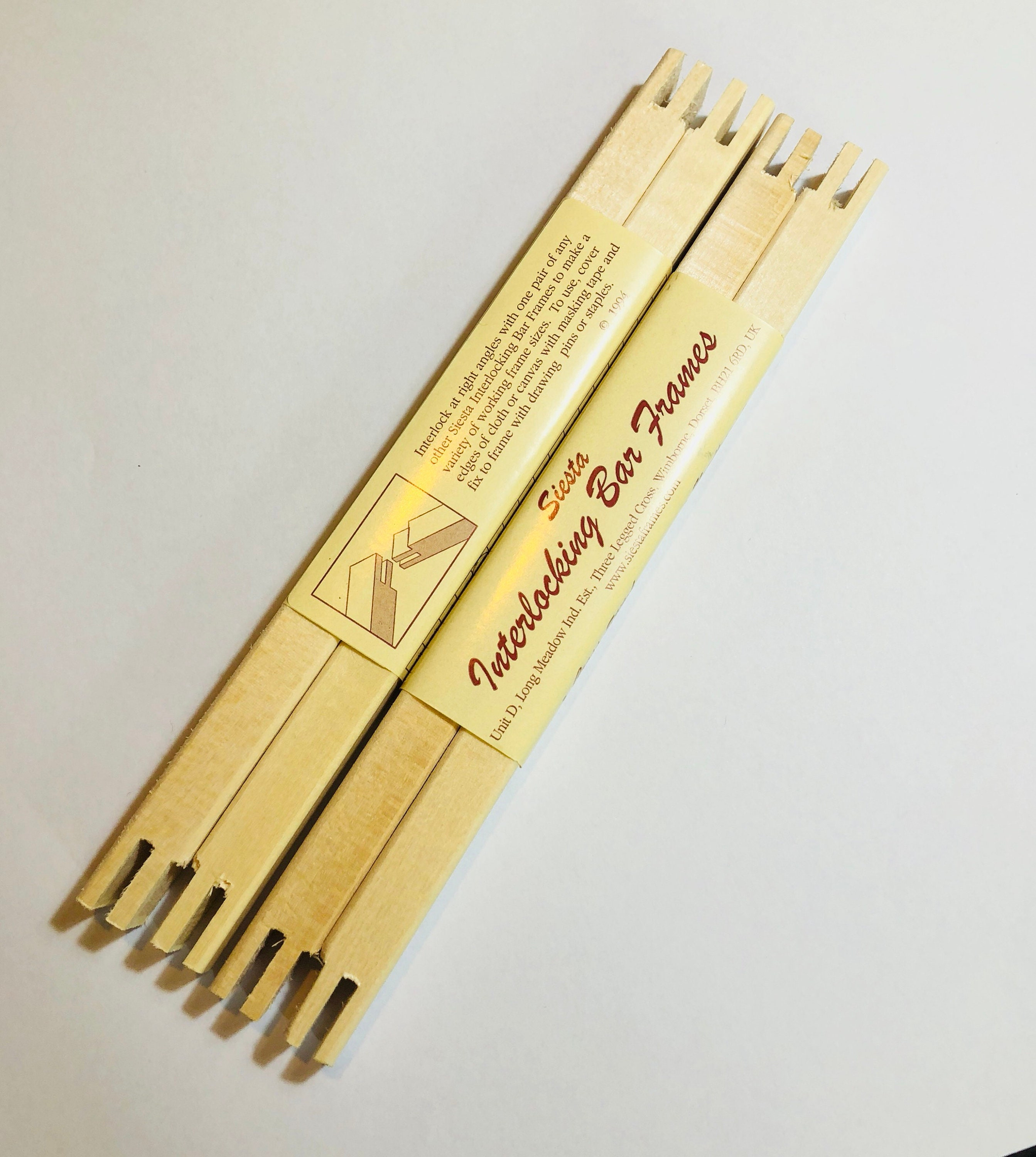 Bar frames for cross stitch, embroidery, needlepoint, stretcher bars