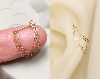 cartilage earring chain