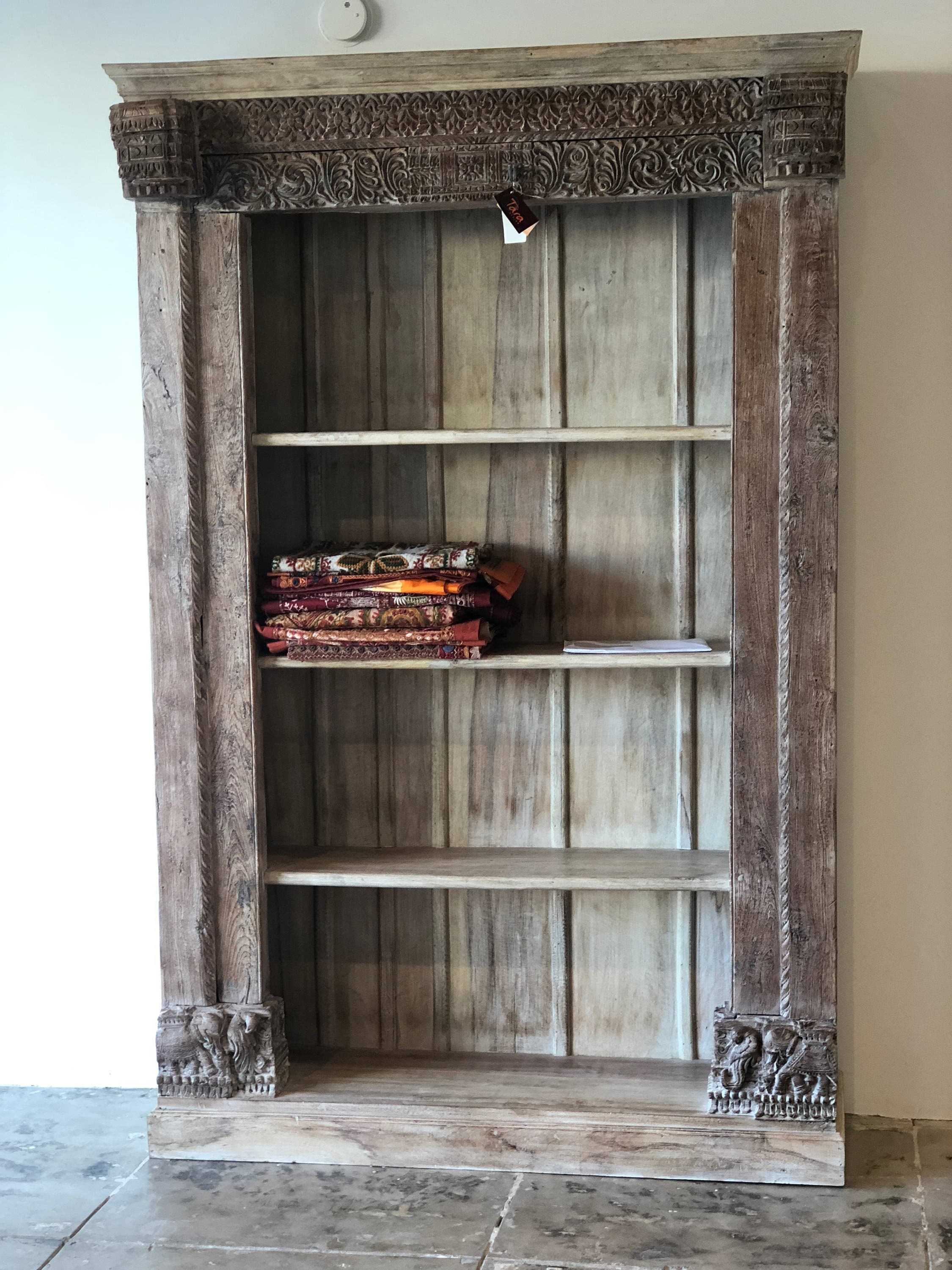 Old Door Frame Bookshelf Display Tall