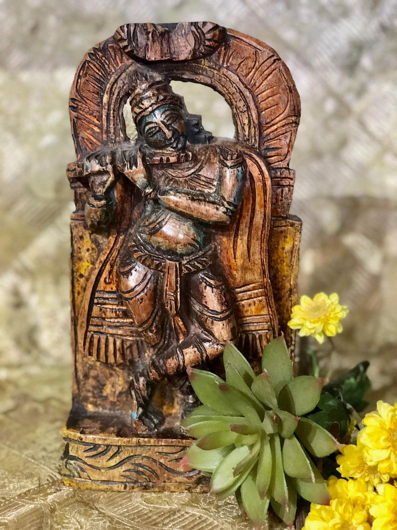 Vintage Beautiful Carving Of Shiva Indian Other Asian Antiques Chinese?