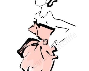 Robert Piguet Fashion Illustration original print