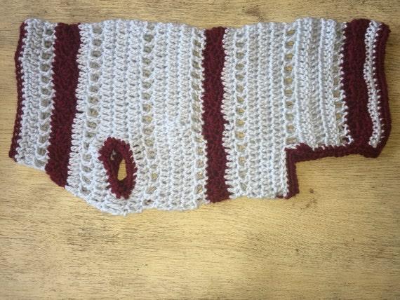 Large Dog Sweater With Fancy Shell Stitch Crochet Pattern Etsy