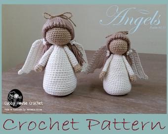 Angel Crochet Pattern 4 PDF 's English, Swedish, Dutch, German. Cubby House Crochet by Veronica McRae