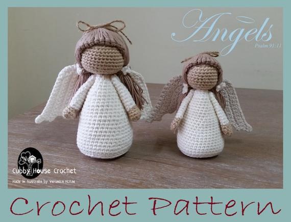 Angel Crochet Pattern 4 Pdf S English Swedish Dutch Etsy