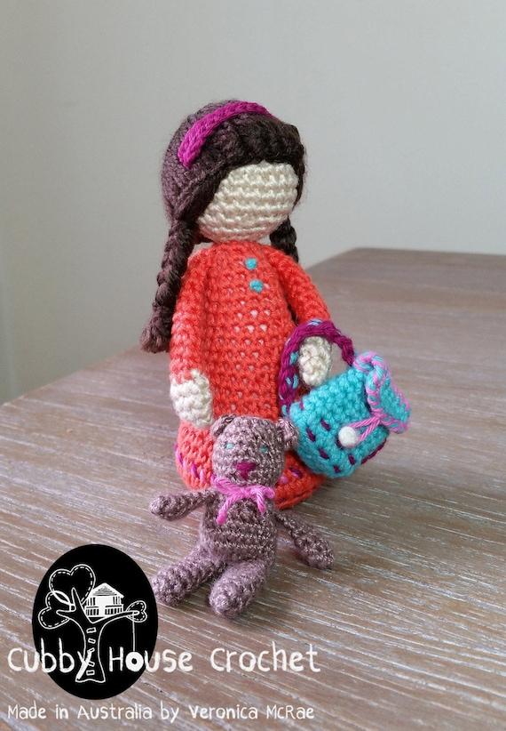 Crochet Pattern Pdf By Cubby House Crochet Little Girl Maria Etsy