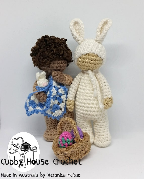 Crochet Pattern. Standing Toddler EZRA with his bunny blanket. | Etsy