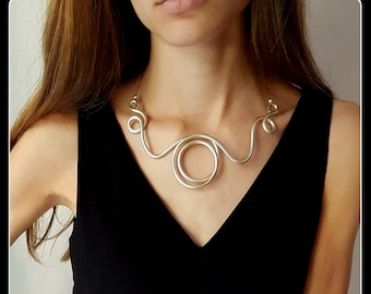 Contemporary aluminium Necklace-aluminium jewellery-Christmas gift-New Year's Day-special occasion-elegant dinner-extravagant