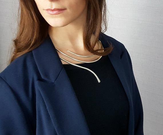 Minimal Necklace, Minimal Jewelry, Minimalist Style, Original Gift Idea, Bride, Girlfriend, Friend, Anniversary. SYNERGIES MILAN