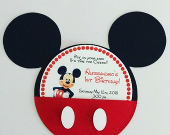 Mickey Mouse Birthday Invitation Mickey Mouse With Picture