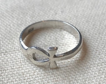 Key of Life - Ankh - 925 Silver Ring - Ancient Egypt