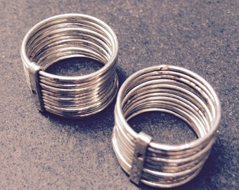 Silver stacking wire ring  - handmade in Cairo
