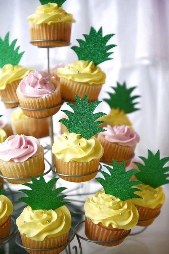 8d14ecb7c74f Pineapple Cupcake Toppers Luau Tutti Fruitti First